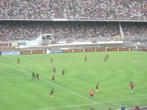 Les Lions qualifiés dans la douleur à Mfandena dans Sport cameroun-libye-300x225