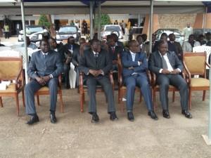 La tribune du Délégué, ses adjoints et le SG