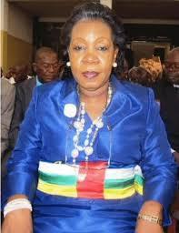 La présidente transitoire Samba Panza Catherine